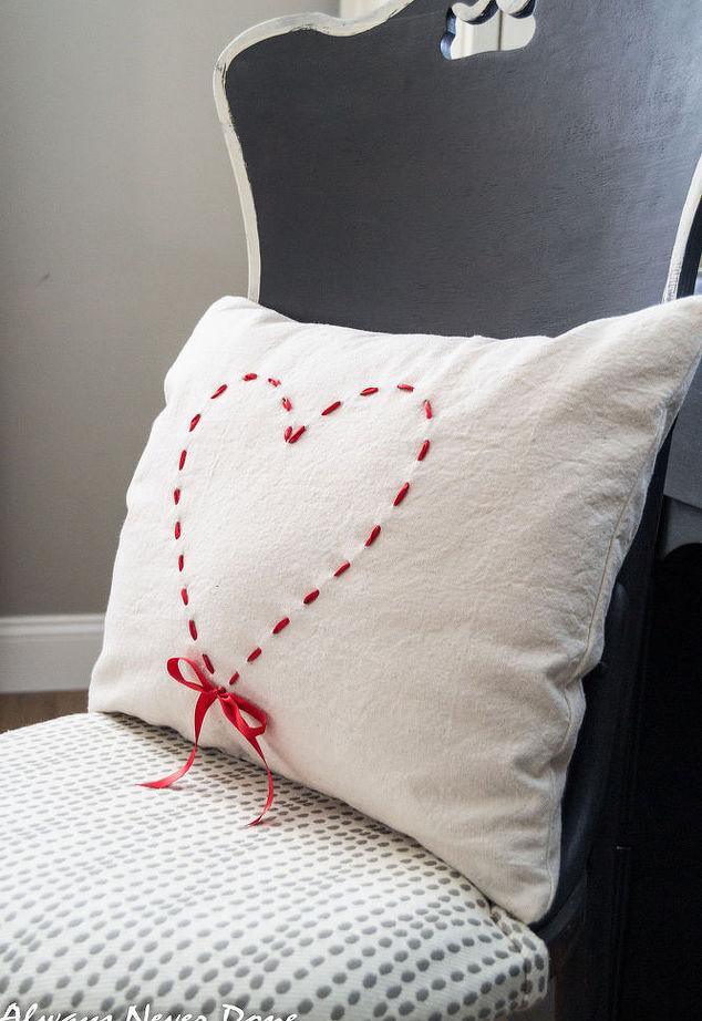 Heart Drop Cloth Pillow