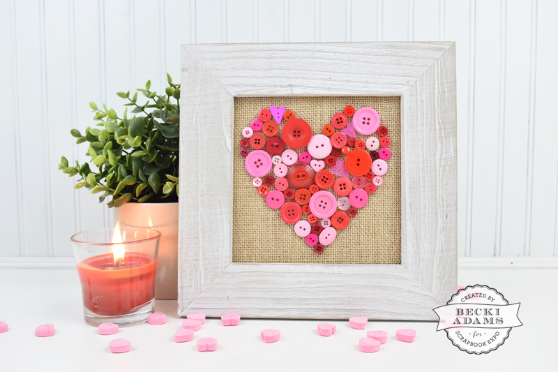 DIY Valentines Home Decor by @jbckadams for @scrapbookexpo #ValentinesHomeDecor #DIY #ValentinesDay