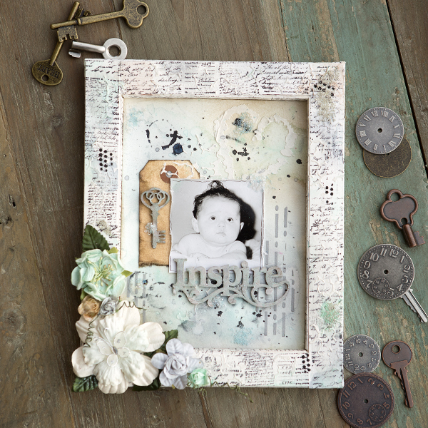 _Inspire Mixed Media Shadow Box
