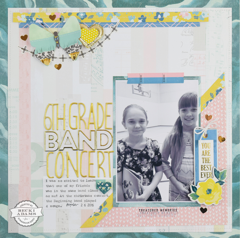 Scrapbooking with a Poor Quality Photo by Becki Adams for @scrapbookexpo #scrapbooking #ScrapbookExpo #BeckiAdams #CratePaper