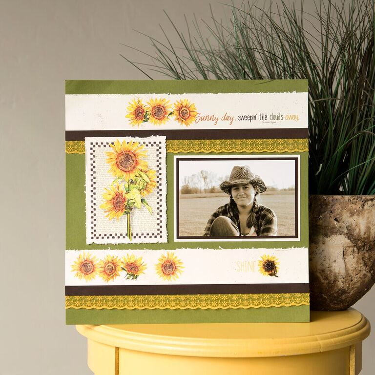 _Scrapbooking Without Scraps - Sunflowers