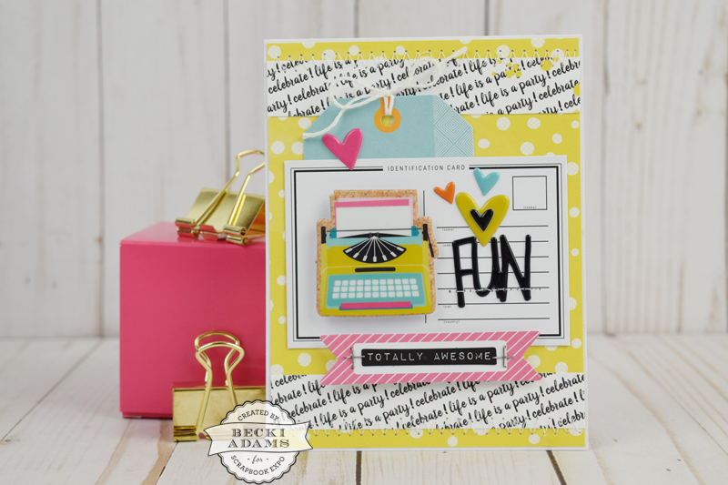 """Fancy Pants """"Joy Parade"""" Cards created by @jbckadams for @scrapbookexpo using prodcuts from the Latest & Greatest Workshops #cardmaking #SSE2017 #FancyPantsDesigns #BeckiAdams"""