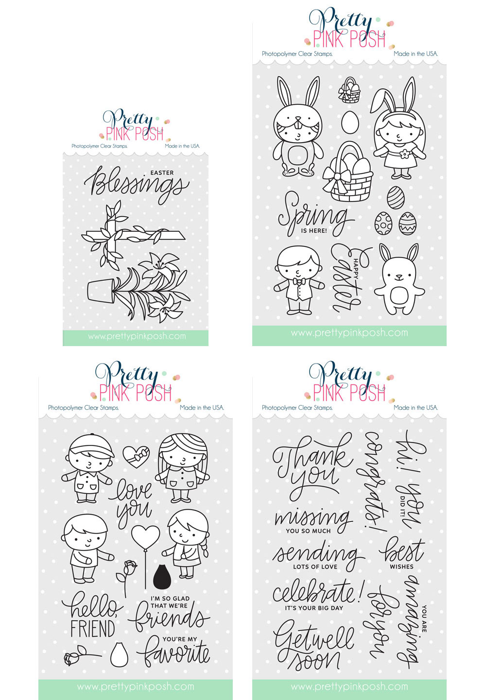 Pretty Pink Posh March Stamp Set