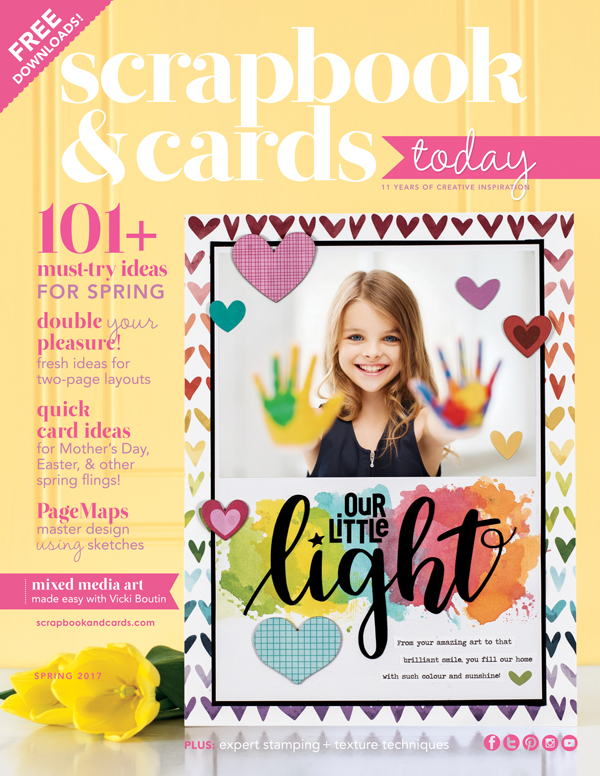 Scrapbook & Cards Today Spring 2017