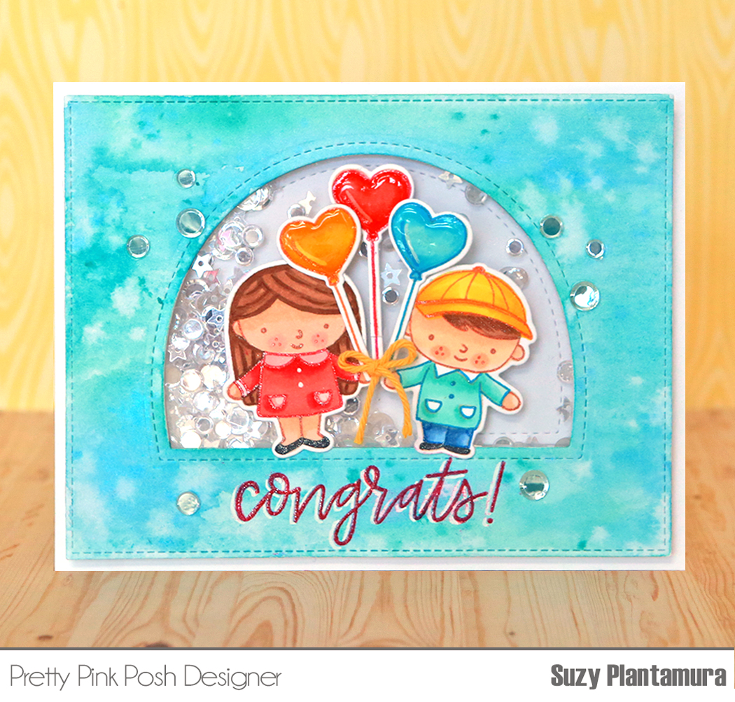Congrats card by Suzy Plantamura