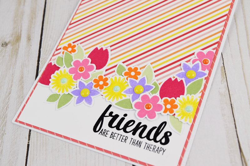 Stamped friendship card by @jbckadams for @scrapbookexpo and @sunnystudiostamps #handmadecards #scrapbookexpo #sunnystudiostamps