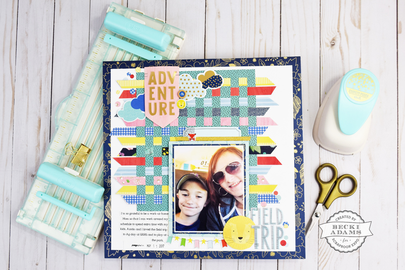 How to Use the Fringe and Score Board by Becki Adams for @scrapbookexpo #SSBE17 #scrapbooking #papercrafting #WeRMemorykeepers