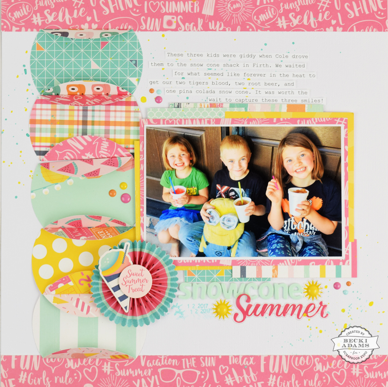 How to use a giant circle punch by @jbckadams for @stampandscrapbookexpo #scrapbooking #papercrafting #SSBE2017 #ssbe #ScrapbookExpo