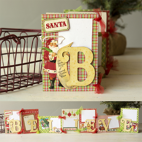 _Believe Banner and Recipe/Gift Card Holders