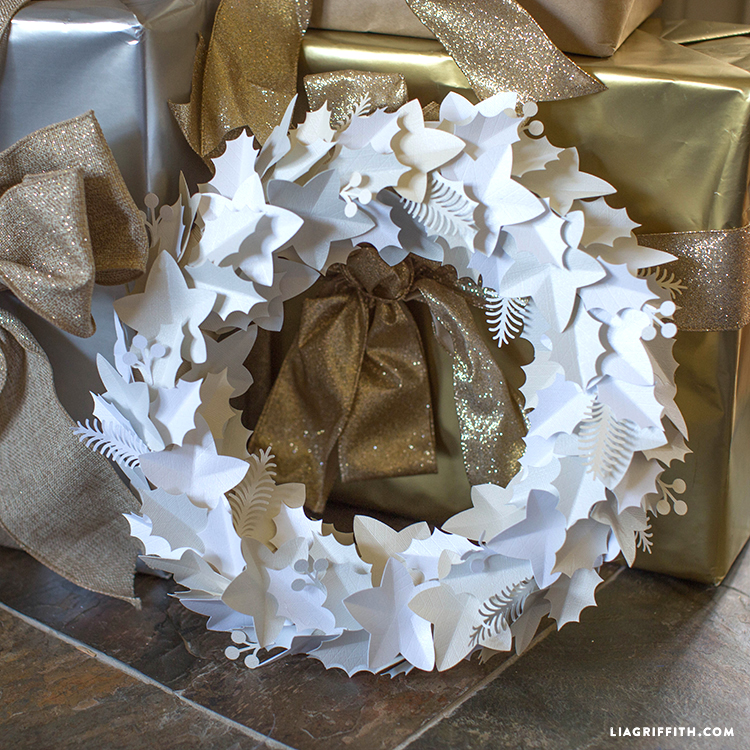 Winter Paper Wreath