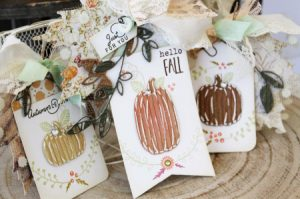 Corrugated Pumpkin Tags