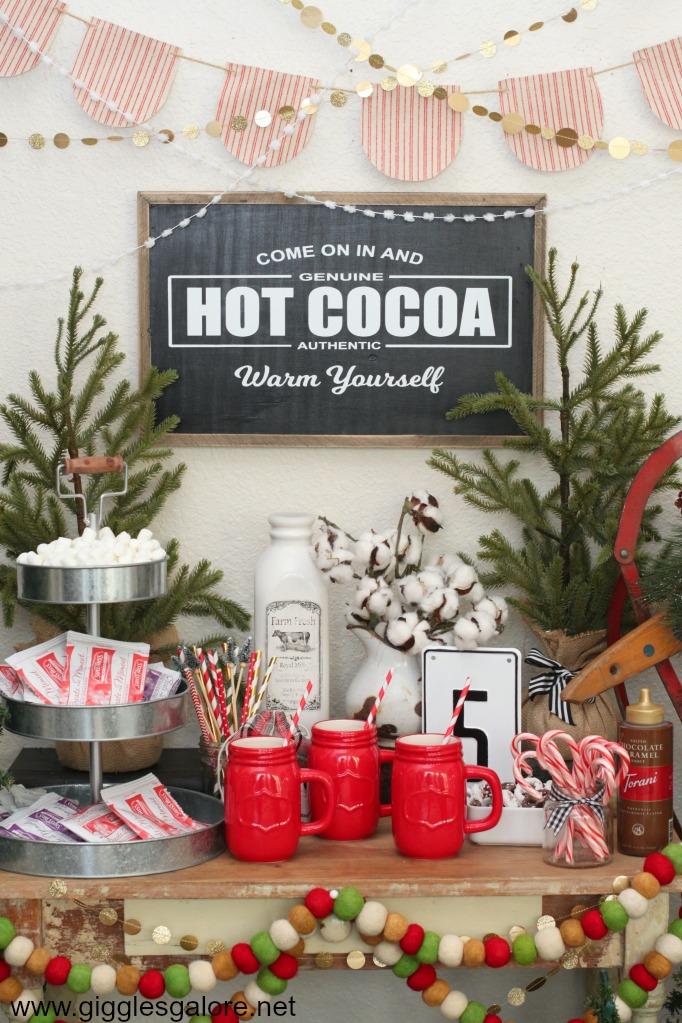 Hot Cocoa Bar Sign
