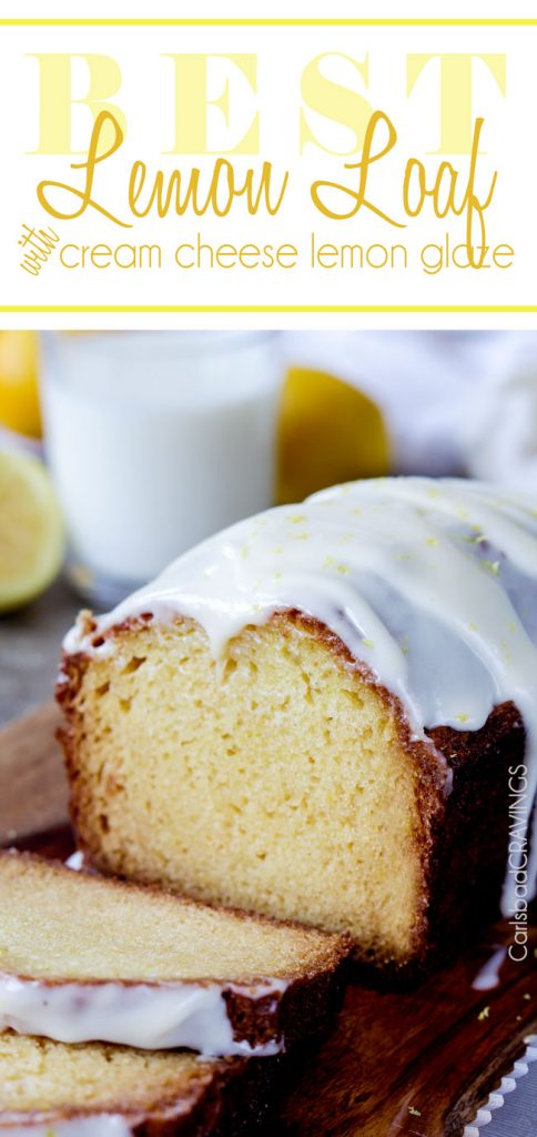 Lemon Loaf With Cream Cheese Frosting