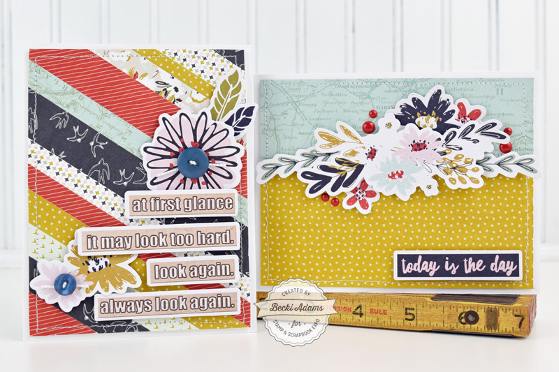 Latest & Greatest Card Making with Fancy Pants Designs by Becki Adams for @scrapbookexpo.com