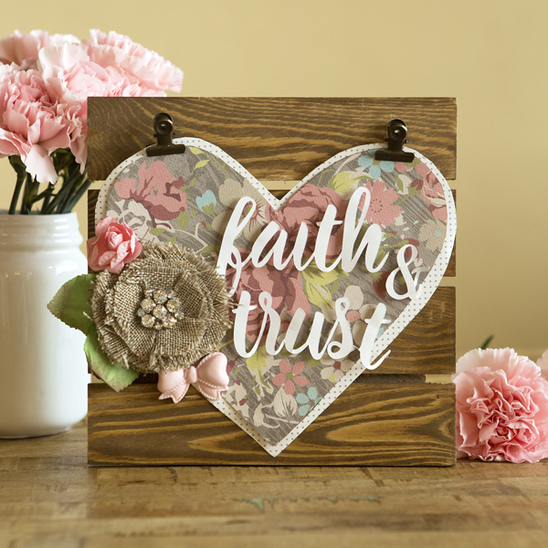 _Faith & Trust Pallet Art
