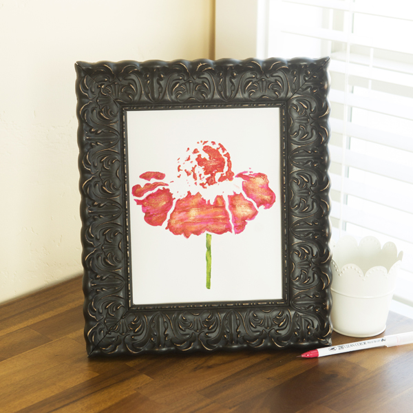 _This Flower: Clean and Simple Mixed Media Art