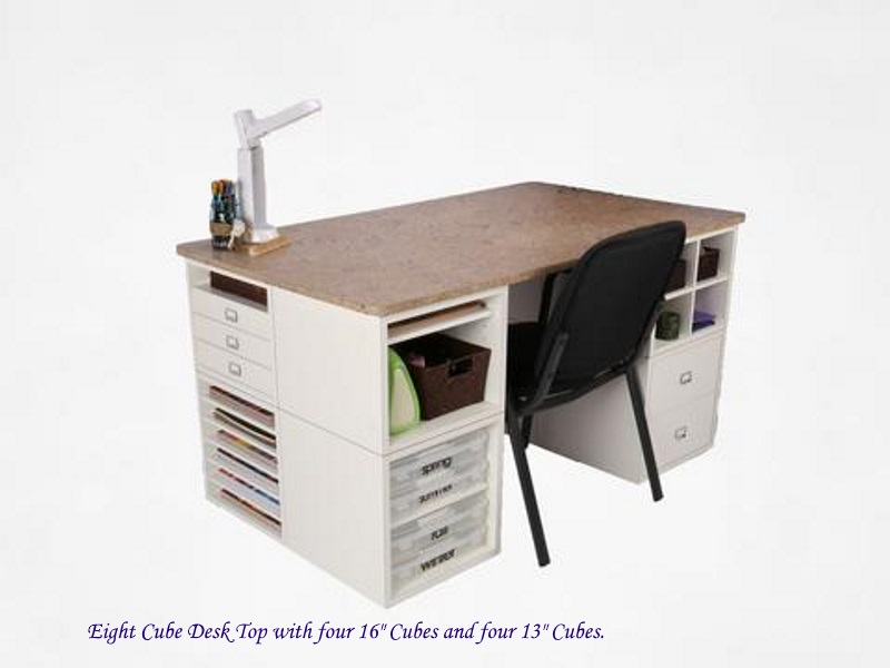 Legacy Woodcrafters 8 Cube Desk