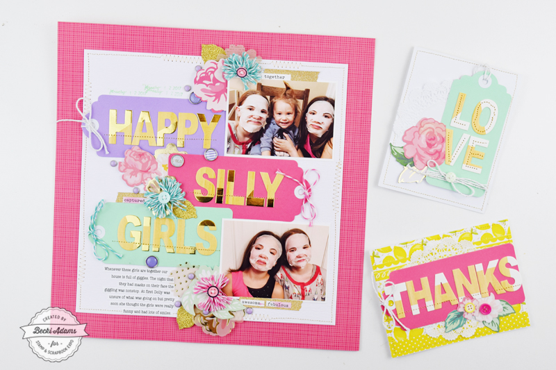 Scrapbooking with Love and Lemon Crafts by Becki Adams for @scrapbookexpo #ssbe2018 #ssbeblog #loveandlemoncrafts