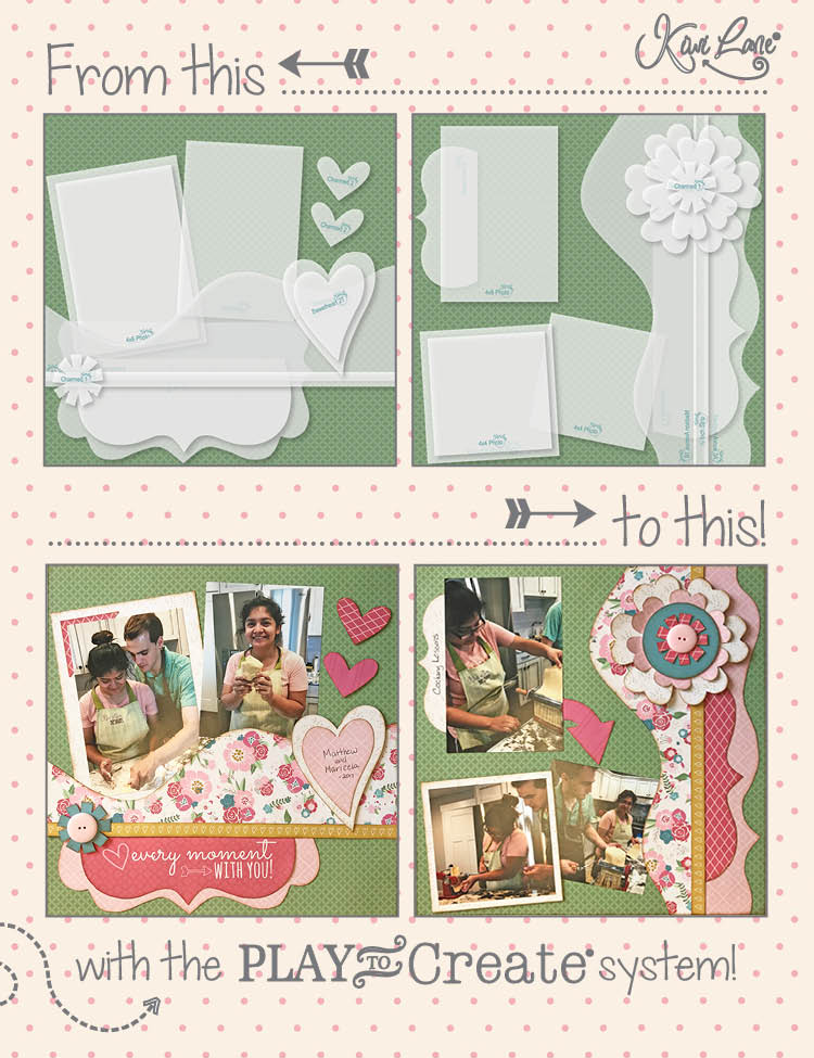 Kiwi Lane Blushing Love Layout