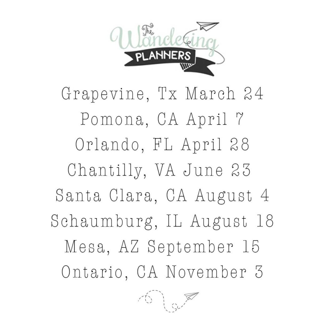 Introducing The Wandering Planners by Stamp & Scrapbook Expo @scrapbookexpo #wanderingplanners #ssbe2018 #ssbeblog #planner #plannermeetup
