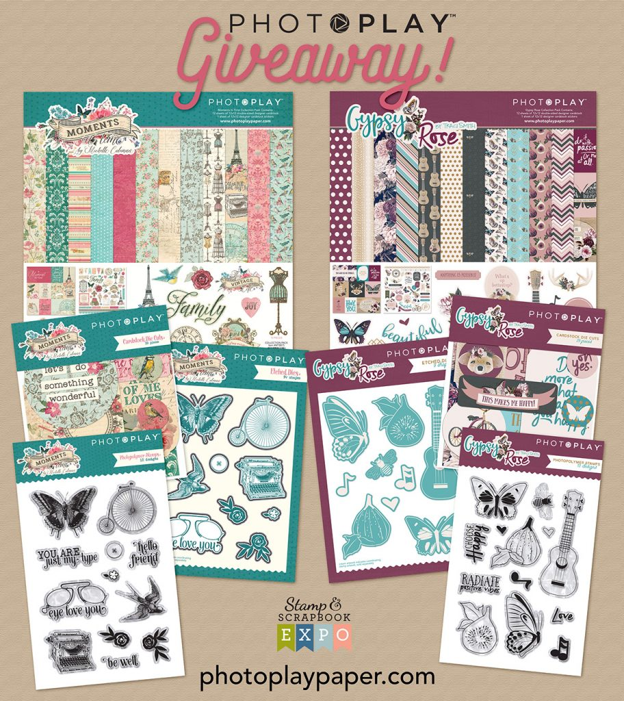 Freebie Friday with Photoplay Paper #ssbe2018 #ssbeblog #giveaway #scrapbooking #cardmaking #photoplaypaper #memorykeeping