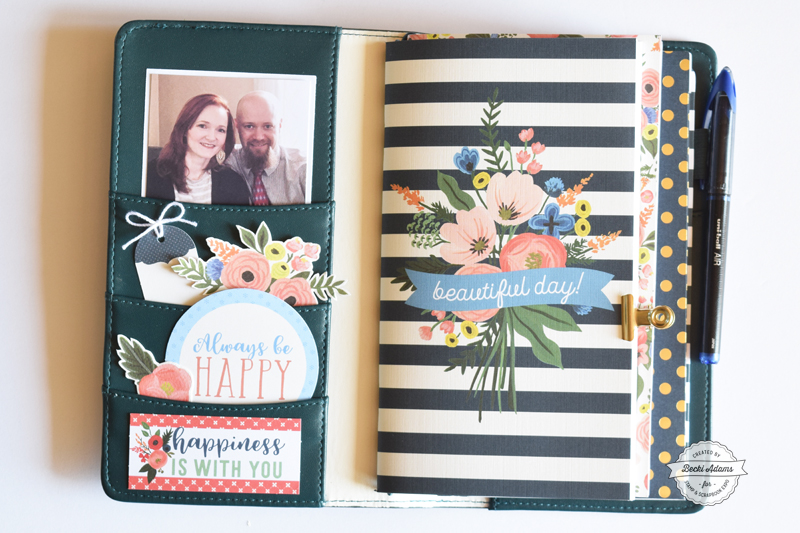 New Travelers Notebooks with Echo Park Paper by Becki Adams for @scrapbookexpo and @wanderingplanners #ssbe2018 #ssbeblog #wanderingplanners #travelersnotebook