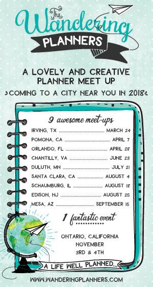 Wandering Planners Schedule