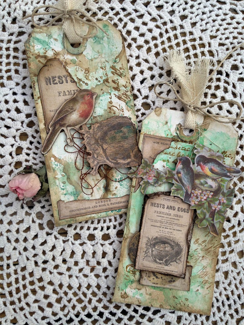 Shabby Vintage Spring Tags