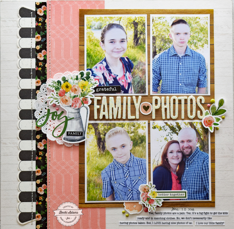 5 Tips for Scrapbooking Family Photos by Becki Adams for @scrapbookexpo #ssbe2018 #ssbeblog #scrapbooking #familyphotos #memorykeeping #memorymaking