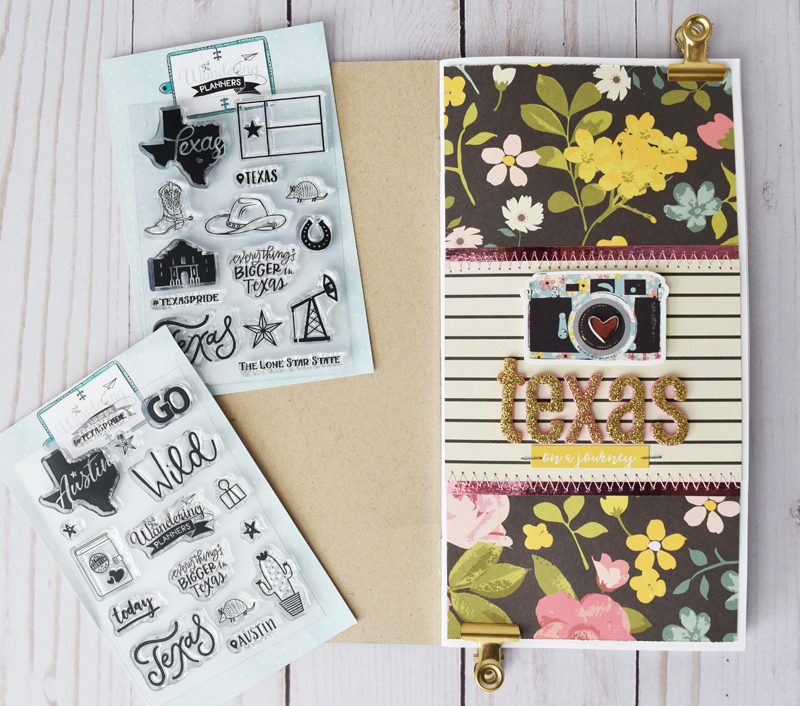 Sewing in a Traveler's Notebook by Becki Adams for @scrapbookexpo and The Wandering Planners #ssbe2018 #ssbeblog #wanderingplanners #planner #plannergirl