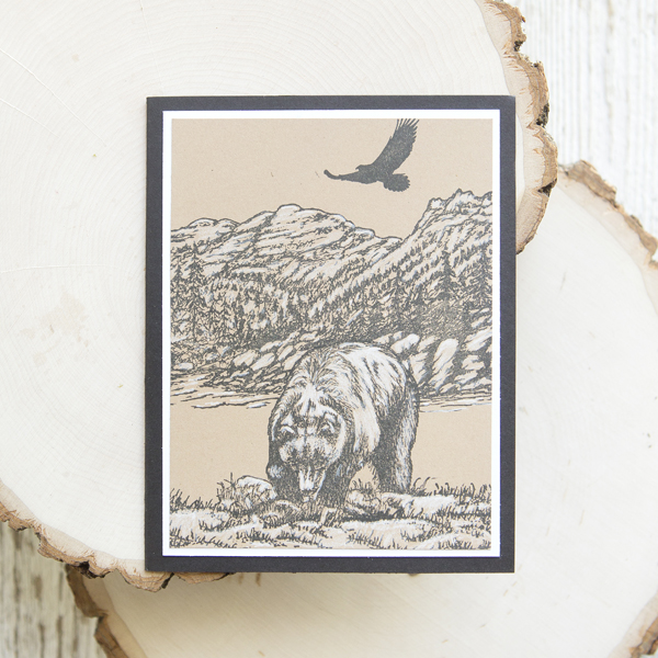 _Vintage Grizzly Scenic Stamping