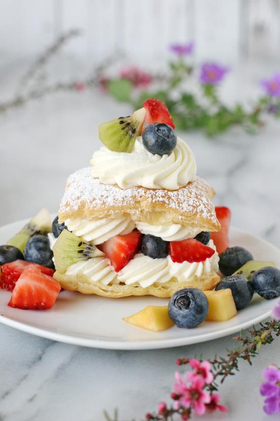 Lemon Cream Puffs With Fresh Fruit