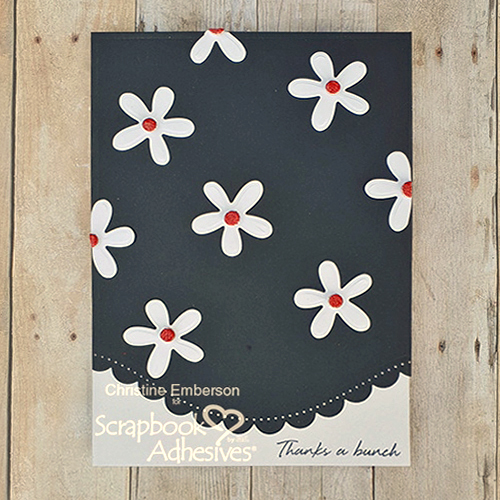 Daisy Card with 3D Foam Circles by Christine Emberson
