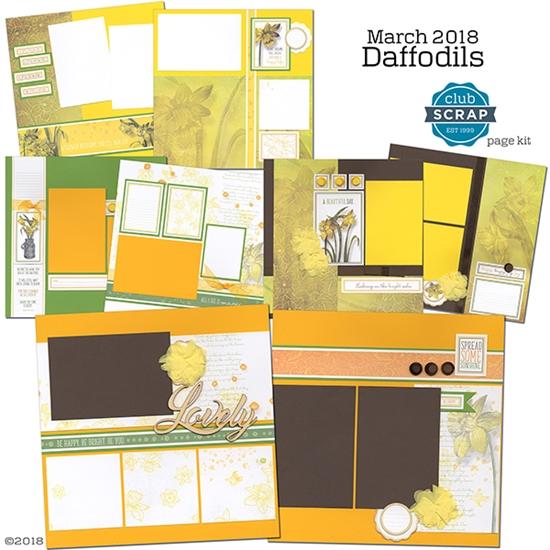 Daffodils Club Scrap Page Kit