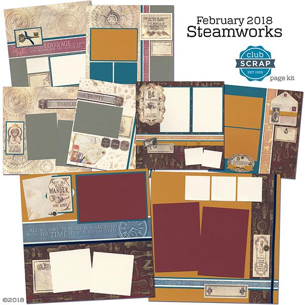 Steamworks Club Scrap Page Kit