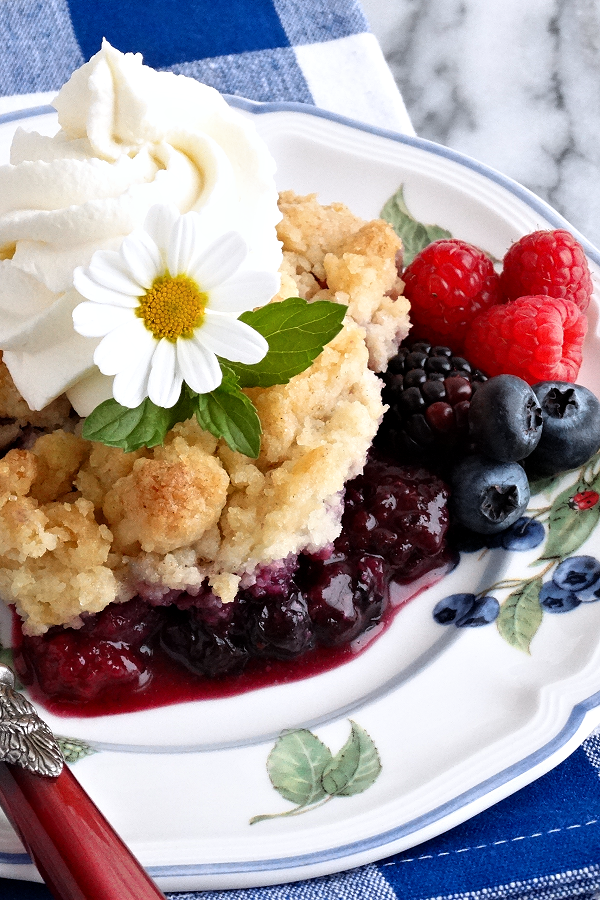 Best Ever Mixed Berry Cobbler