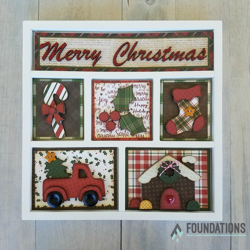Foundations Decor 02674-5 Christmas Shadow Box Kit