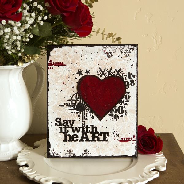 _Say It with Heart Mixed Media Canvas