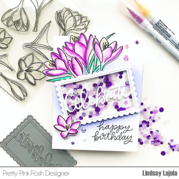 Crocus Flower Shaker Card