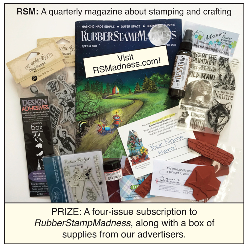 rubber stamp madness prize