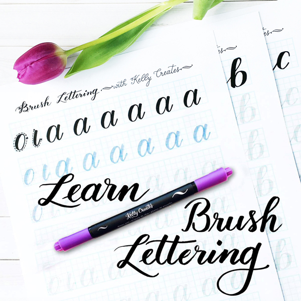_Brush Lettering Basics with Kelly Creates