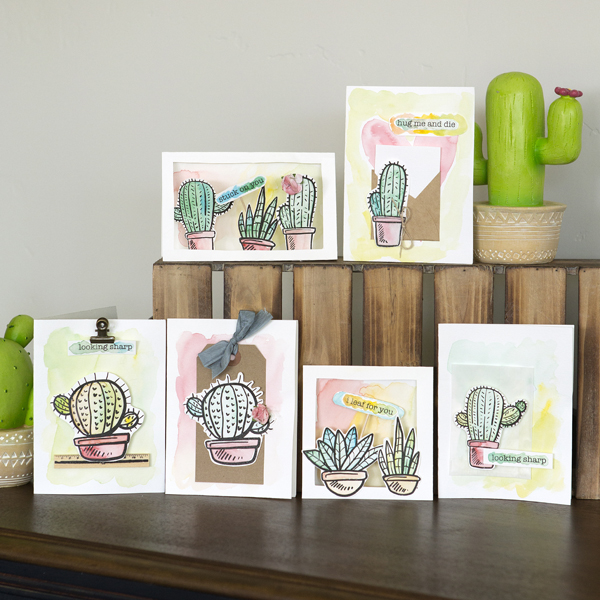 _Watercolor Succulent-Cactus Cards
