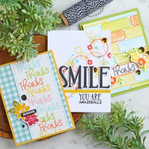 3 Ways to Create Stamped Backgrounds for Cards by  Amy Sheffer