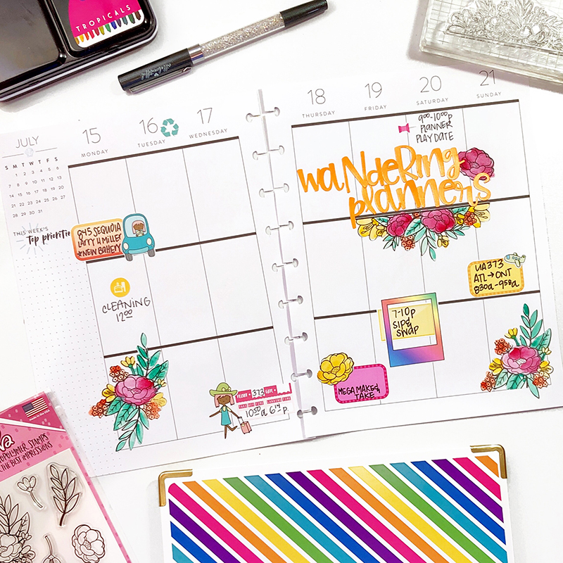 Wandering Planners Happy Planner Stamping