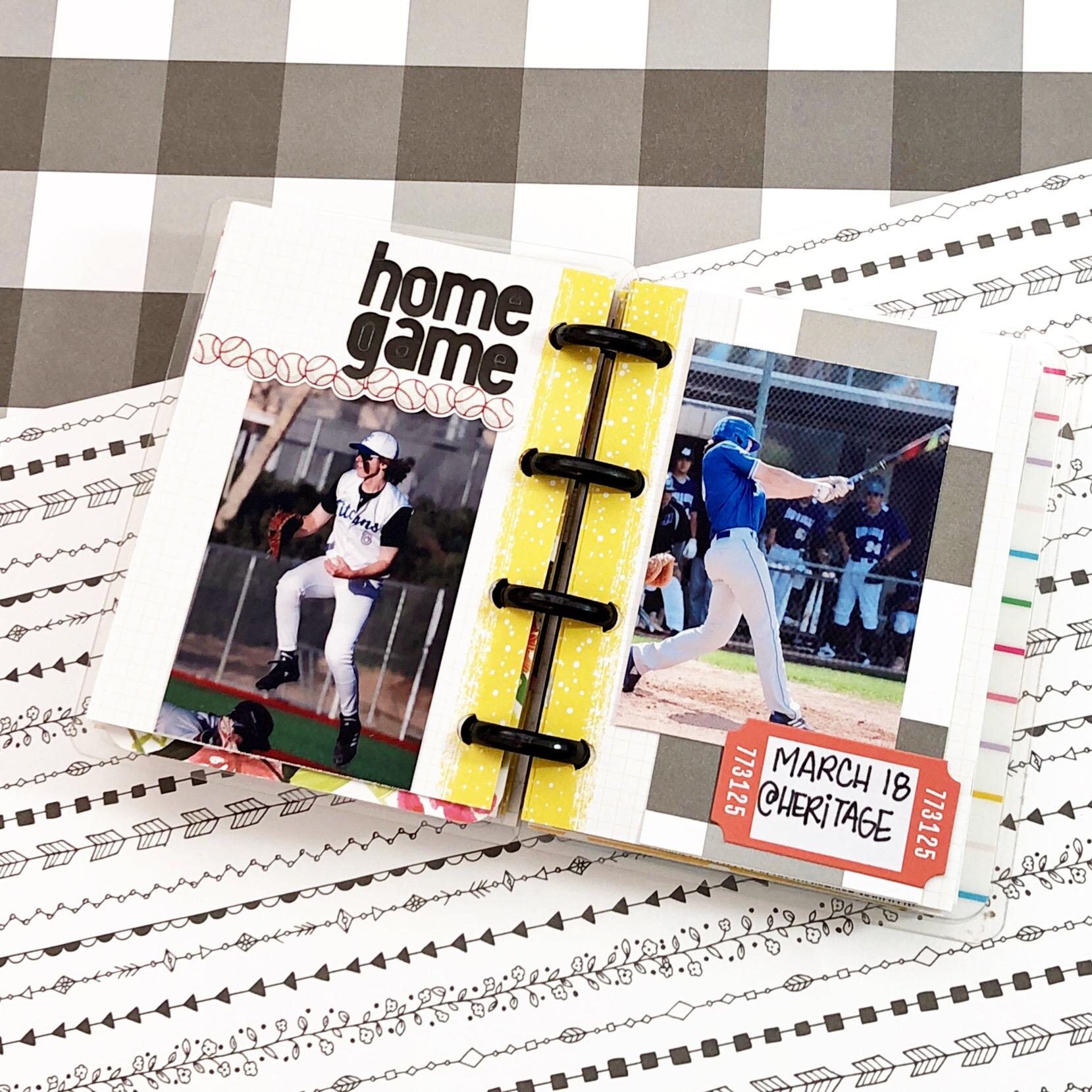 Happy Planner Micro Notes mini scrapbook album planner