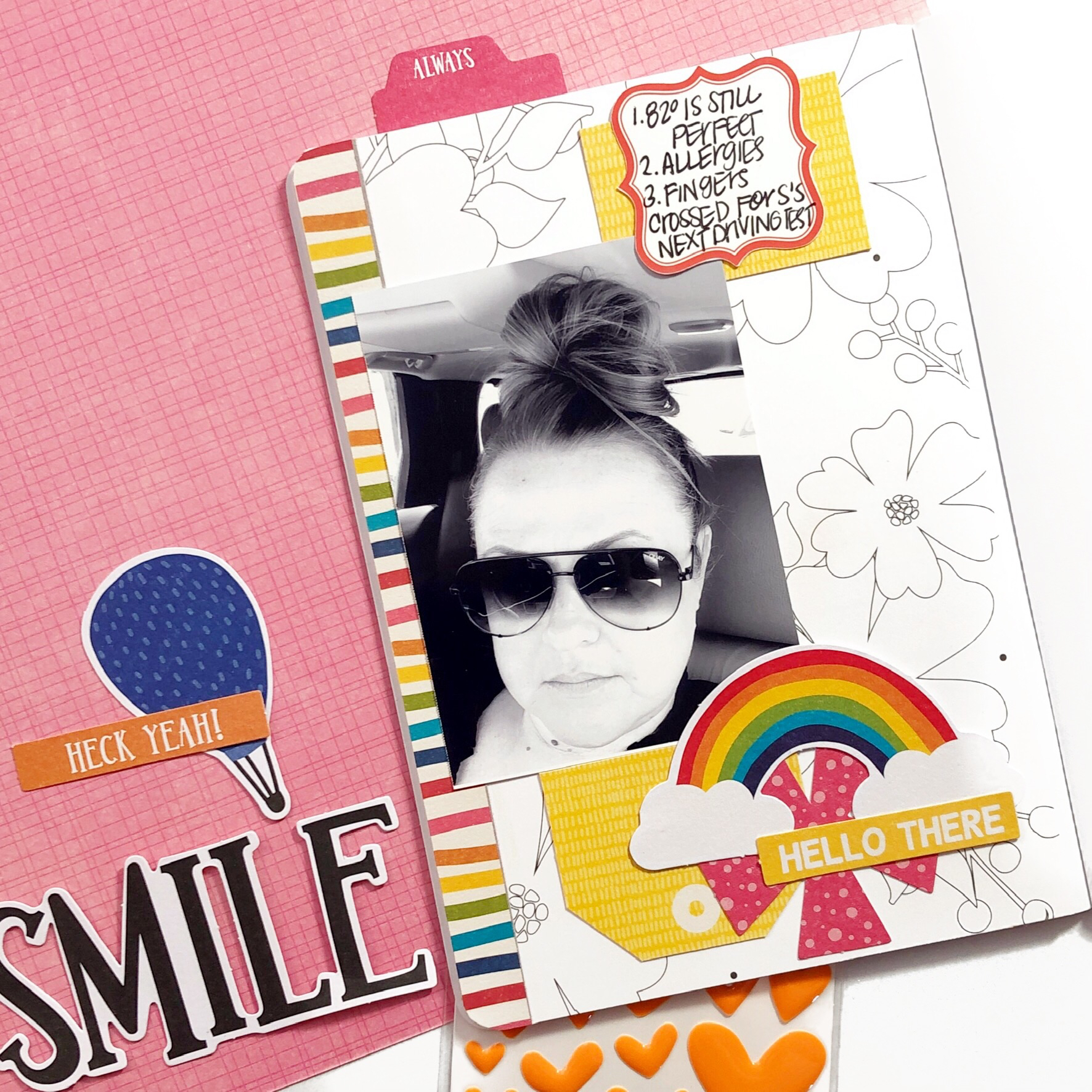 B6 Travelers Notebook Scrapbooking Insert with Jillibean Soup Rainbow Roux collection
