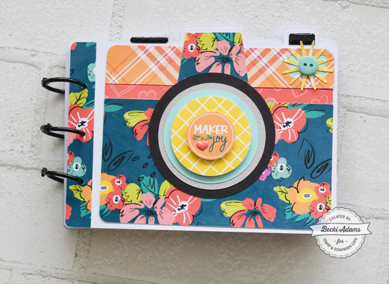 Camera Shaped Mini Album with the Crafty Girls collection by Keep It Simple Paper Crafts and Stamp & Scrapbook Expo
