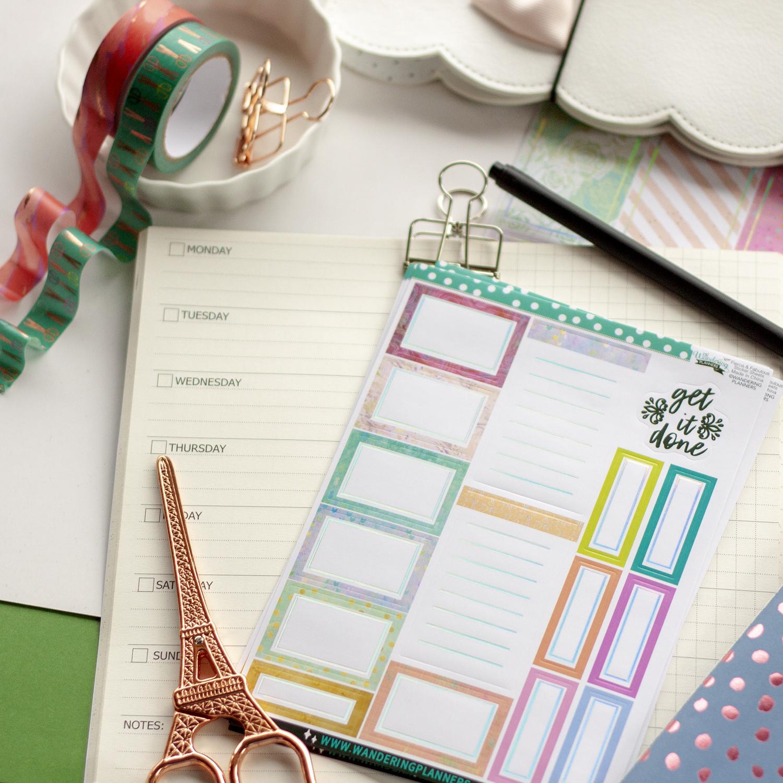 Travelers Notebook Insert Hobonichi Weeks Planner Stickers Washi Tape