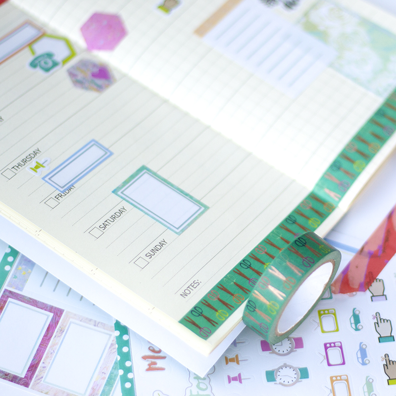 travelers notebook insert planner stickers washi tape