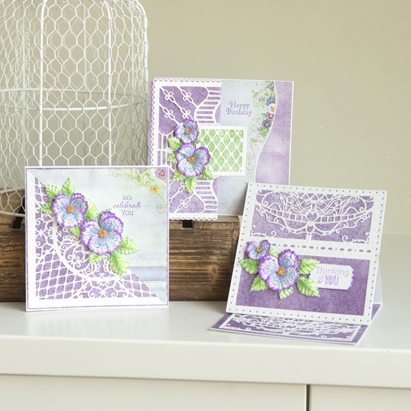 _Decorative Cheery Pansy Cards